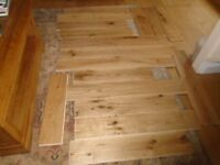 Approximately 2 square metres of engineered oak flooring