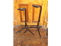 Stagg Electric or acoustic Guitar Stands (2 available) bass/adjustable banjo 2 for £8