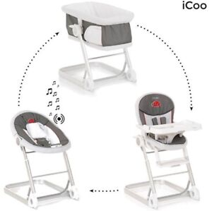 I'coo 1-2-3 Grow With Me - Bassinet, Bouncer, High Chair