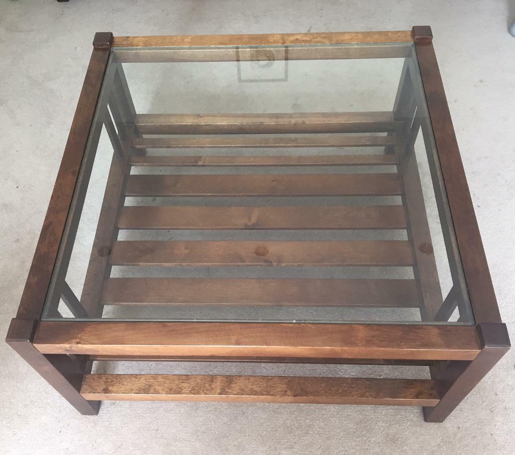 Glass Coffee Tables Gumtree: Laura Ashley Glass Coffee Table Mahogany (dark Wood) With