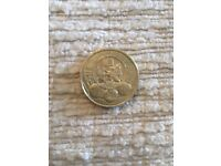 Very rare Cardiff £1 coin