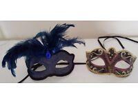 2 x Masquerade Masks [Home Decor/ Fancy Dress]