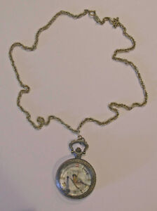 Effiel Tower Bird Designed Pendant Watch With Necklace