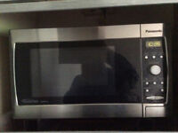 Microwave, stainless steel, with grill
