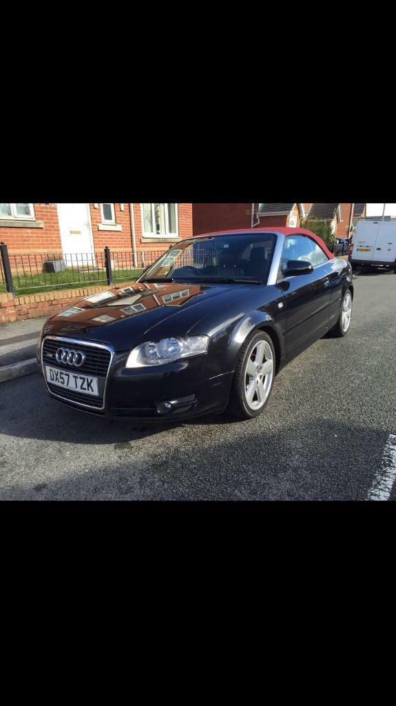 Audi A4 Convertible S Line Red Roof