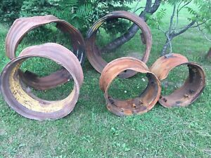Old rims for fire pits