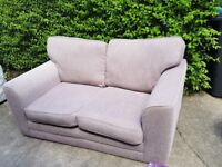 Light Brown 2 Seater Sofa