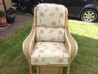 Cane padded conservatory chairs