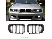 bmw e46 coupe convertible m3 black kidney grills