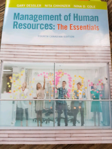 Management of human resources : the essentials for businsss