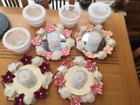 4 Wedding table decorations and sweet bowls