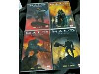 4 sets of comics 16 in total.THE CROW, HALO UPRISING. RUN LIVE KILL. HAWKEN MELEE.