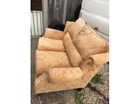 Fabric sofa with free man with van delivery