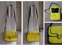 Neon yellow saddle bag from Mango