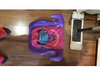 Childrens car booster seat.