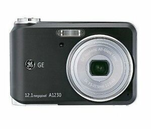 """Digital Camera GE A1230 12.1* 3X * 2.5"""" + USB cable + AV cable 9"""
