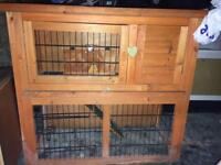 Rabbit/guinea pig hutch and carry case