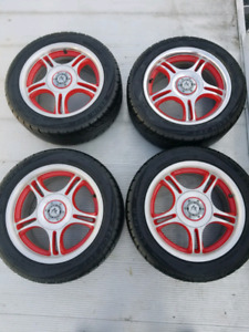 """15"""" Universal tires and rims 205 55 15"""