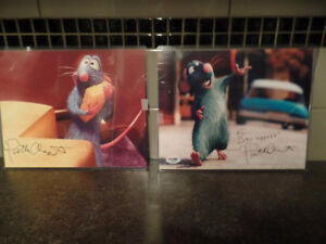 "(2) Pictures ""RATATOUILLE"" Autographed By PATTON OSWALT ~ COA ~"