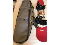 Stepchild Latchkey 153 snowboard and burton bindings and bag