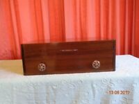Solid wood cutlery box with 2 draws