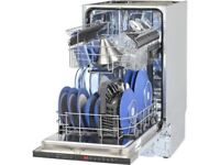 Slimline integrated dishwasher from Ikea with stainless steel effect door