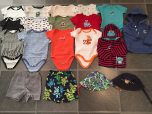 EXCELLENT CONDITION baby boy summer clothes size 6-9-12 months