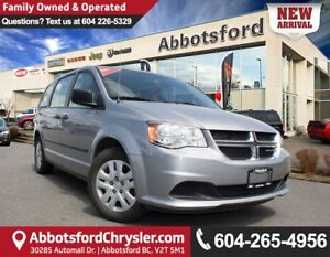 2014 Dodge Grand Caravan SE/SXT One Owner, Accident Free!
