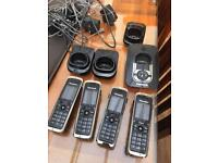 BARGIN! 4x Panasonic cordless handset with answer machine