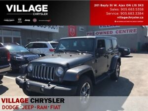 2016 Jeep WRANGLER UNLIMITED Sahara|Dual Tops|Leather|Nav|Alphin