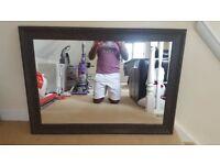 Large Mirror - Black/Brownish