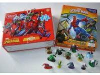 MARVEL SPIDER-MAN toys , storybook, figurines, playmat and puzzle