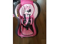 Car seat minnie mouse