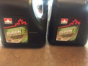 8 Litres of Duron--E 15w-40