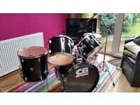 Drum kit - full size CB Drums SP Series in black, great condition