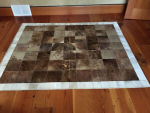 Cowhide Patchwork Leather Rug
