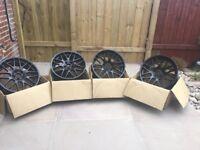 """Atomic BMW 3 Series 19"""" black alloys (rims)"""