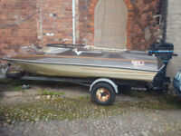 Sym Sims Suoer V Speed power boat 40hp Mercury PX Swap