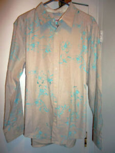 Kenzo Paisley Floral Print Button Shirt, Size L New!