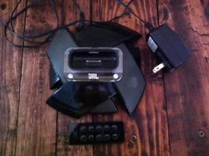Used a couple times. JBL Portable Music Dock with remote