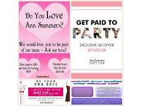 Become an Ann summers party ambassador today!!