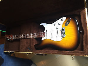 To the buyer of the tobacco-burst Warmoth Strat
