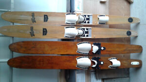 Antique 1950's Water Skis - 2 pairs