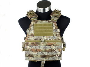 Veste tactique de type plate carrier couleur Kryptek Mandrake