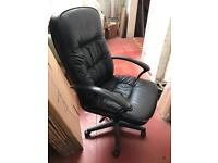 Real leather adjustable operator chair