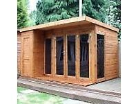 Shed ,summer house ,decking , home office , design and build ,patios , playhouse,