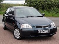 Honda Civic 1.5i LS, Manual, 3 Door, 1998 / S Reg, 35k Miles, Honda + 1 Owner, MOT: June 2018