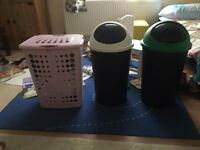 Laundry bin and waste bins for sale (home clearance)