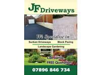 JF Driveways landscape gardening sunken driveways