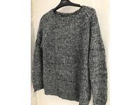 Grey/black sequin jumper size 10